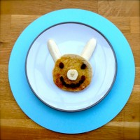 bunny-muffins & bunting for Father's Day