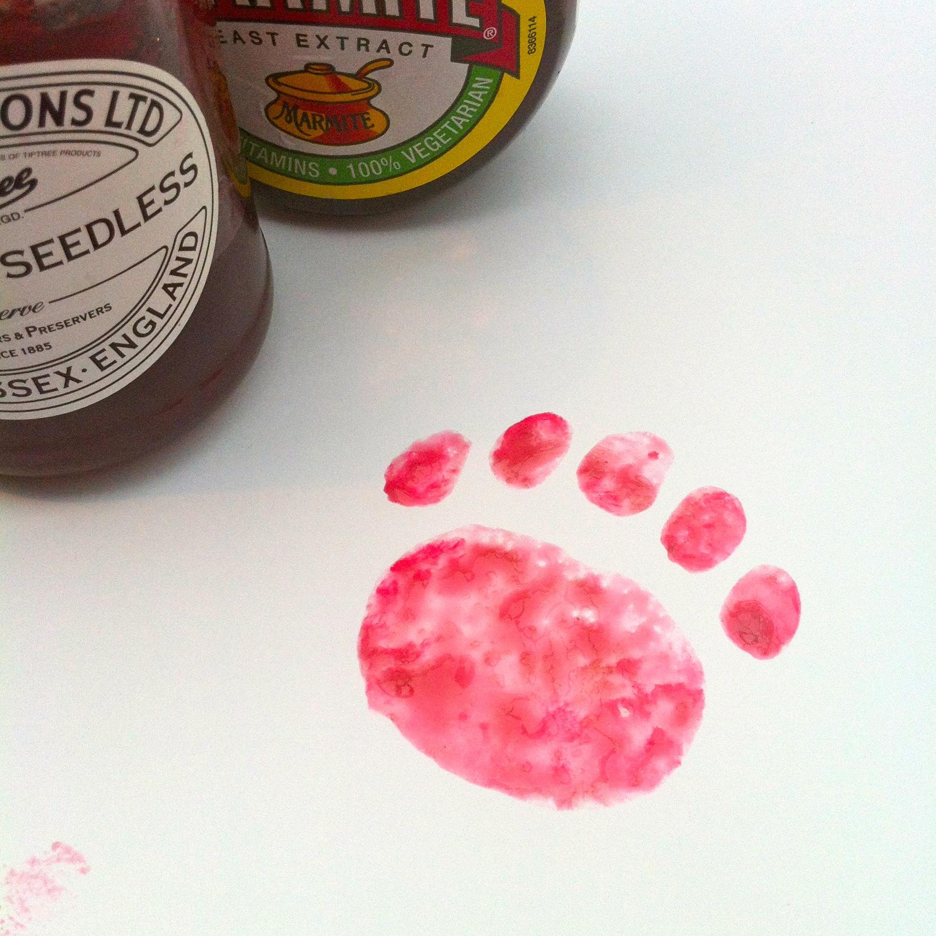 more bear things to do: potato paw prints